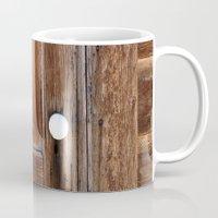 cabin Mugs featuring Cabin Door by Leland D Howard