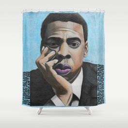 Jay Z Blue Shower Curtain