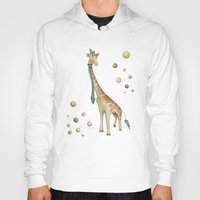 giraffe Hoodies featuring Giraffe by Catru