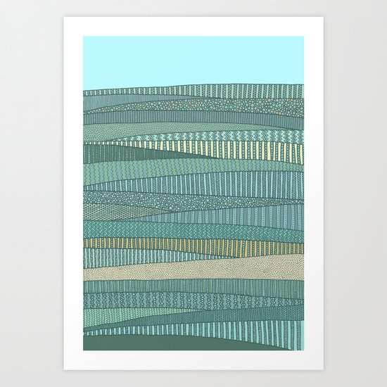 Summer Fields Art Print