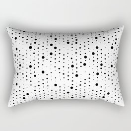 black white retro spot Rectangular Pillow