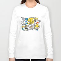 simpsons Long Sleeve T-shirts featuring Simpsons by Ray Kane