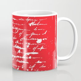 Red Square. Unreadable letter Coffee Mug