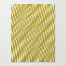 Golden Wavelength Fuzzy Caramel Spikes Canvas Print