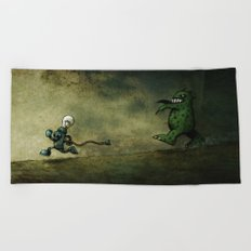 Run for Bulb Beach Towel