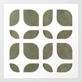 CAHOKIA MOD (TERRARIUM MOSS), pattern by Frank-Joseph Art Print