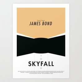 James Bond Skyfall - Minimalist Poster Art Print