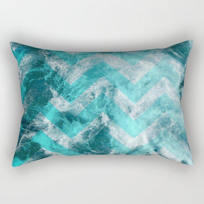 Sea chevron Rectangular Pillow