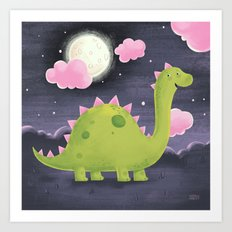 Gus the Dinosaur Art Print