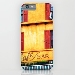 Blue Narrow House iPhone Case