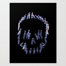 123. Blade Skull Art Print