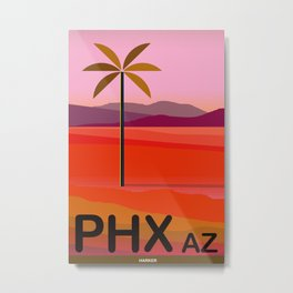 Phoenix Arizona Travel Poster Metal Print