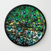 wildlife Wall Clocks featuring WildLife by John D'Amelio
