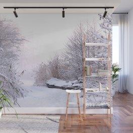 Snowy Landscape Wall Mural