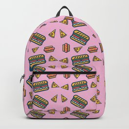 fast food pink Backpack