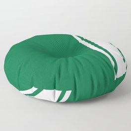 Green Racer Floor Pillow