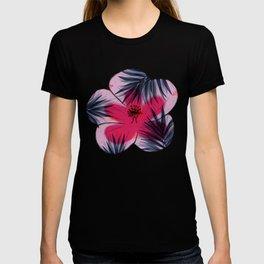 Unique Delicate Tropical Leaves Pattern T-shirt