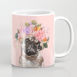 Pug with Flower Crown Coffee Mug