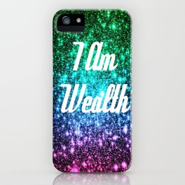 Wealth Affirmation Galaxy Sparkle Stars iPhone Case