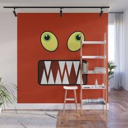 Funny monster face Wall Mural