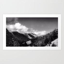 Big Sky Country - Black And White Art Print