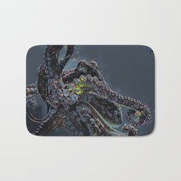 """""""Release the Kraken"""" - Giant Octopus Digital Illustration Bath Mat"""