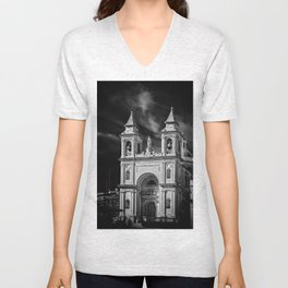 The parish of Marsaxlokk, Malta Unisex V-Neck