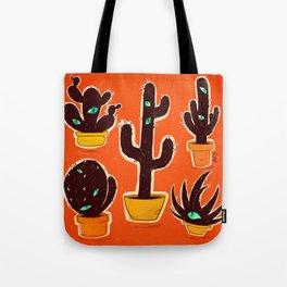 Cat//Cactus Tote Bag