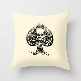 Life or Death Denim Supply Throw Pillow