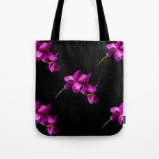 Dark Orchid Floral Tote Bag