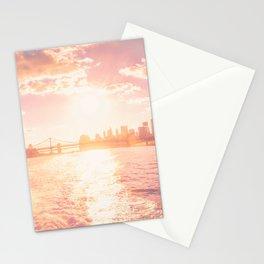 New York City Skyline Sunset Stationery Cards