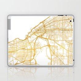 CLEVELAND OHIO CITY STREET MAP ART Laptop & iPad Skin
