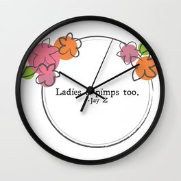Floral - Ladies Wall Clock