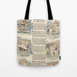The Dentist 1919 full page news paper cartoon Tote Bag