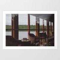 Carpenter Centre. Art Print