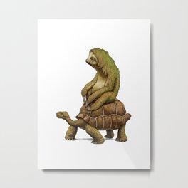 Speed is Relative sloth Metal Print