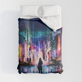 Tokyo Cyberpunk Japan Comforters
