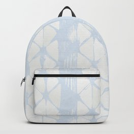 Simply Braided Chevron Sky Blue on Lunar Gray Backpack