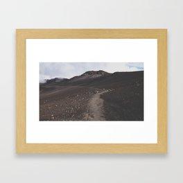 Walk on a Volcano Framed Art Print