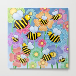Busy Buzzers. Metal Print
