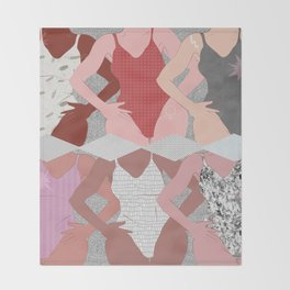 My Thighs Rub Together & I'm OK With That - Positive Body Image Digital Illustration Throw Blanket