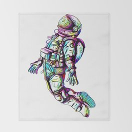 Space Fall Throw Blanket