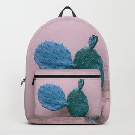 Cactus and pink wall Backpack