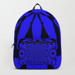 The modern flower Royal Blue Backpack