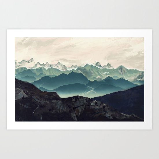 Shades of Mountain Art Print
