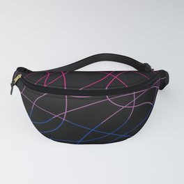Abstract Threads – Bisexual Pride Flag Fanny Pack