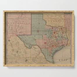 Houston Post map of the great Southwest (1880) Serving Tray