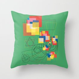 Kid in a Candy Store Throw Pillow