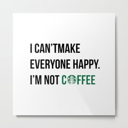 058 coffee lovers Metal Print
