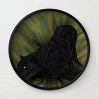 jaguar Wall Clocks featuring Jaguar by Ben Geiger
